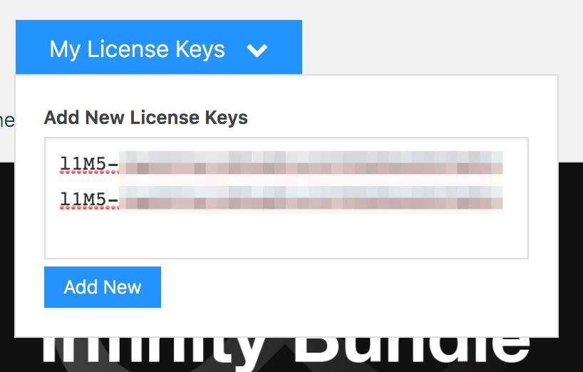 add your keys
