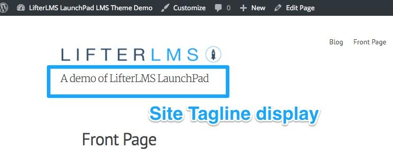 LaunchPad Tagline Display setting