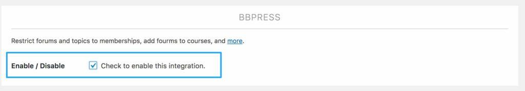 enable bbPress