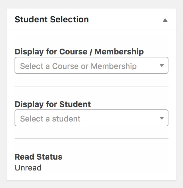 LifterLMS Private Areas Student Selection Metabox