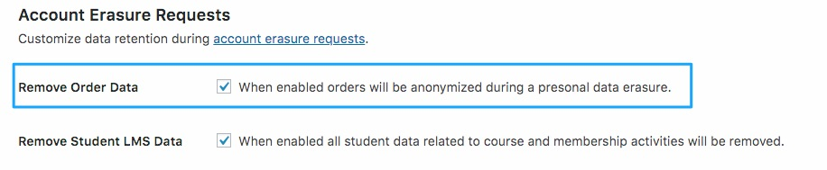 Remove Order Data