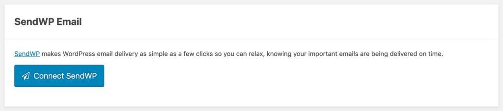 SendWP Email Settings