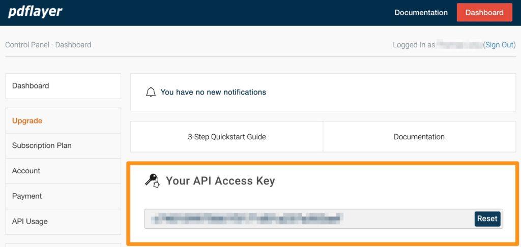 pdflayer.com api account access key