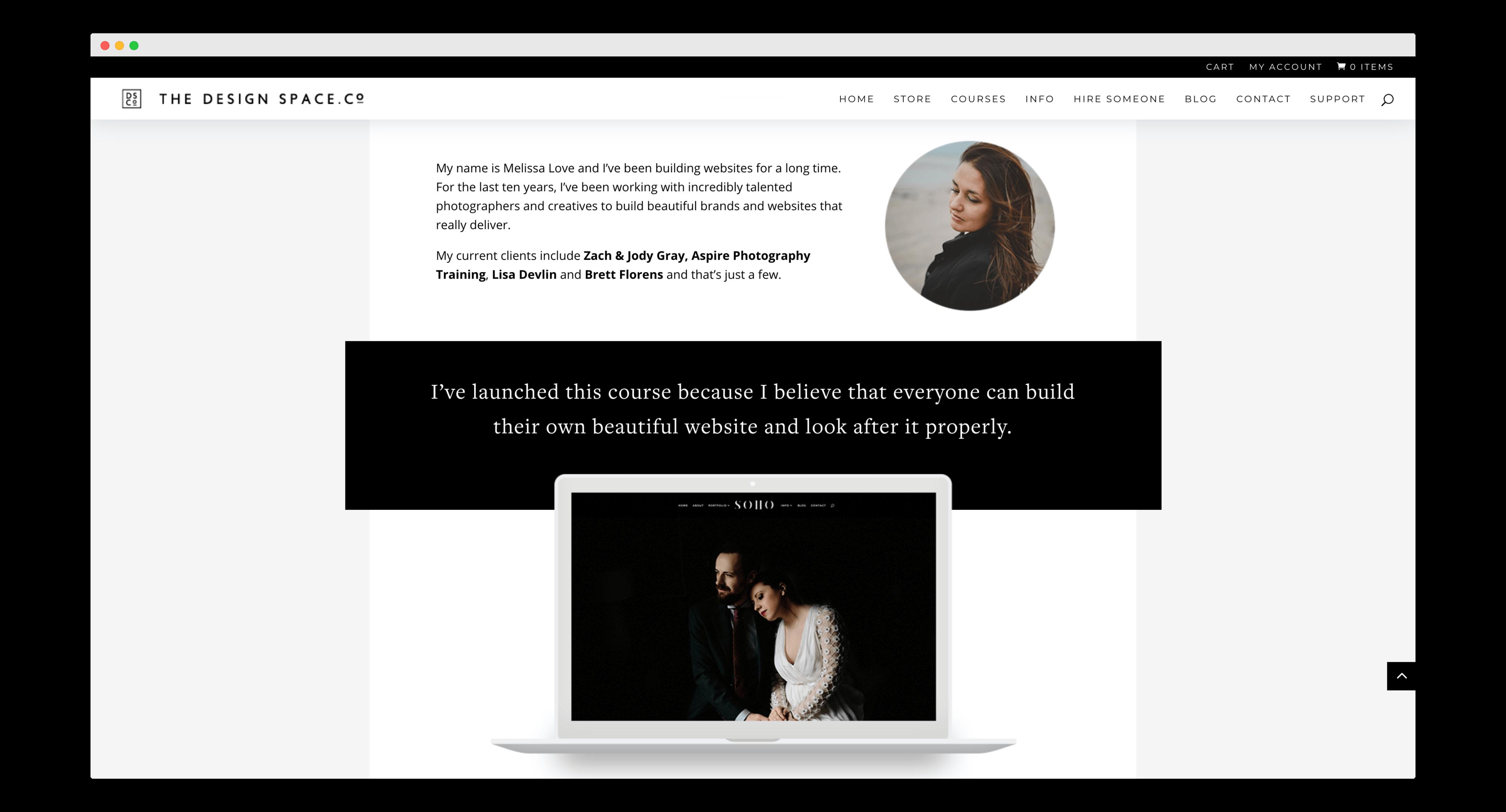 Melissa Love Online Course Site School WordPress Divi