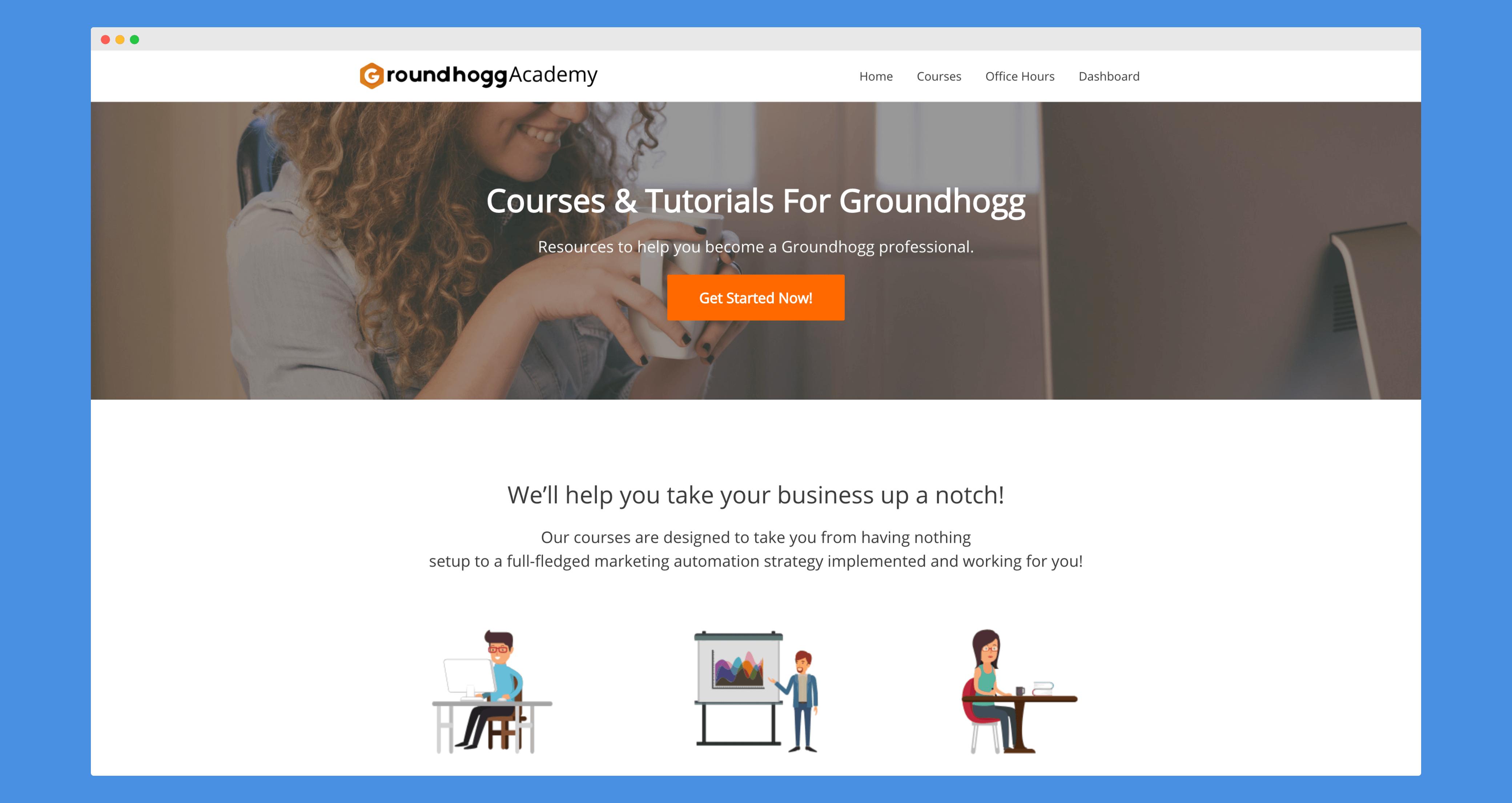 The Groundhogg Academy Website (1)