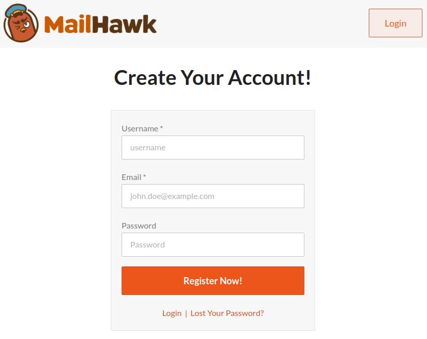 MailHawk Authorization Screen