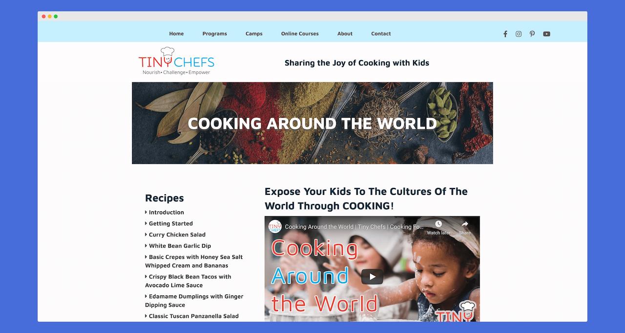 Make Online Cooking Class