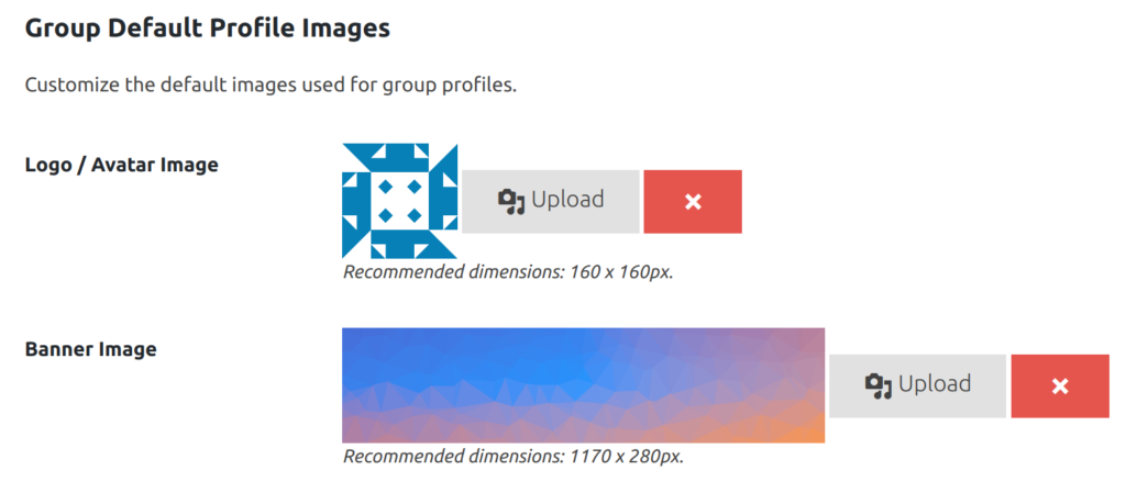 Group Default Profile Images