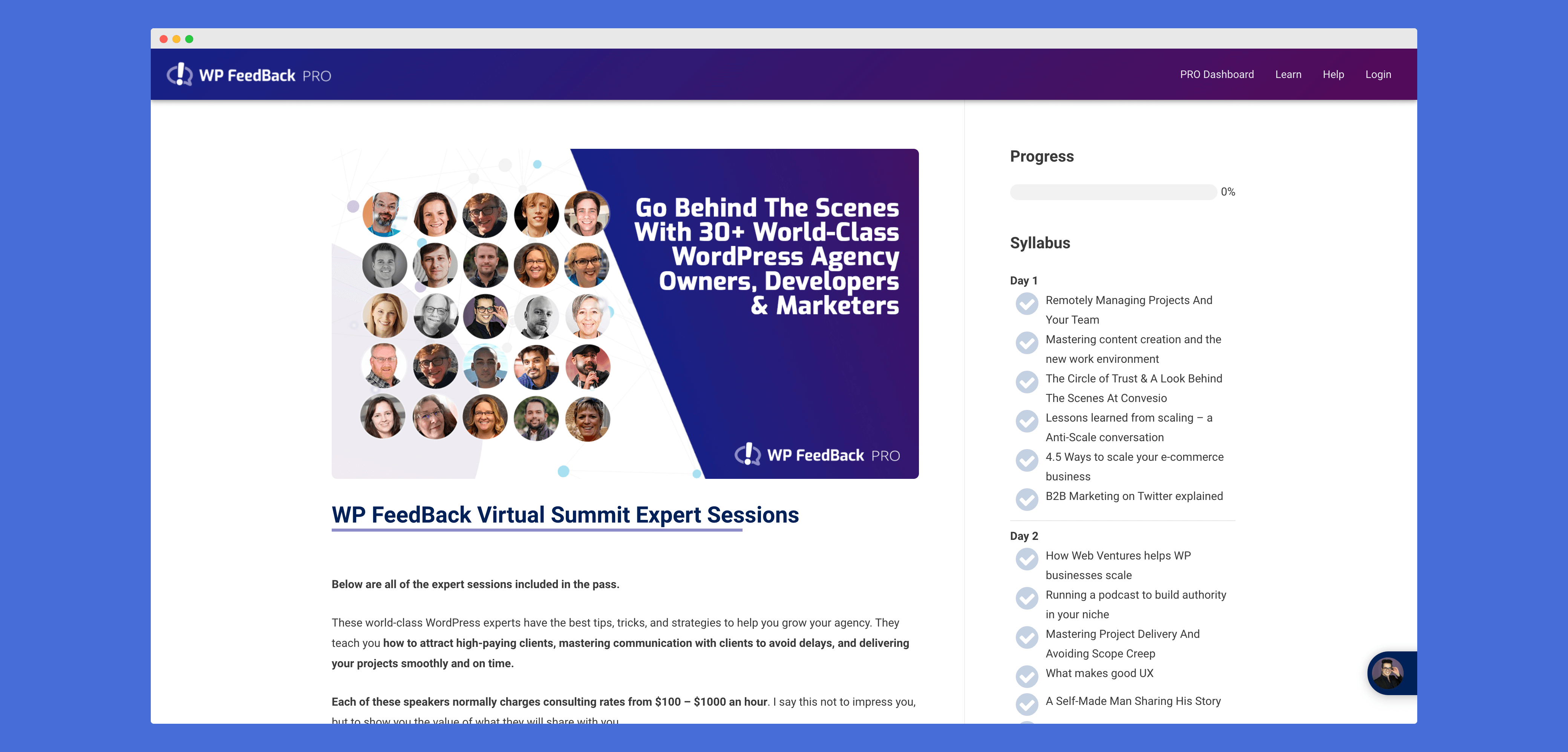 Make Virtual Summit with WordPress LifterLMS