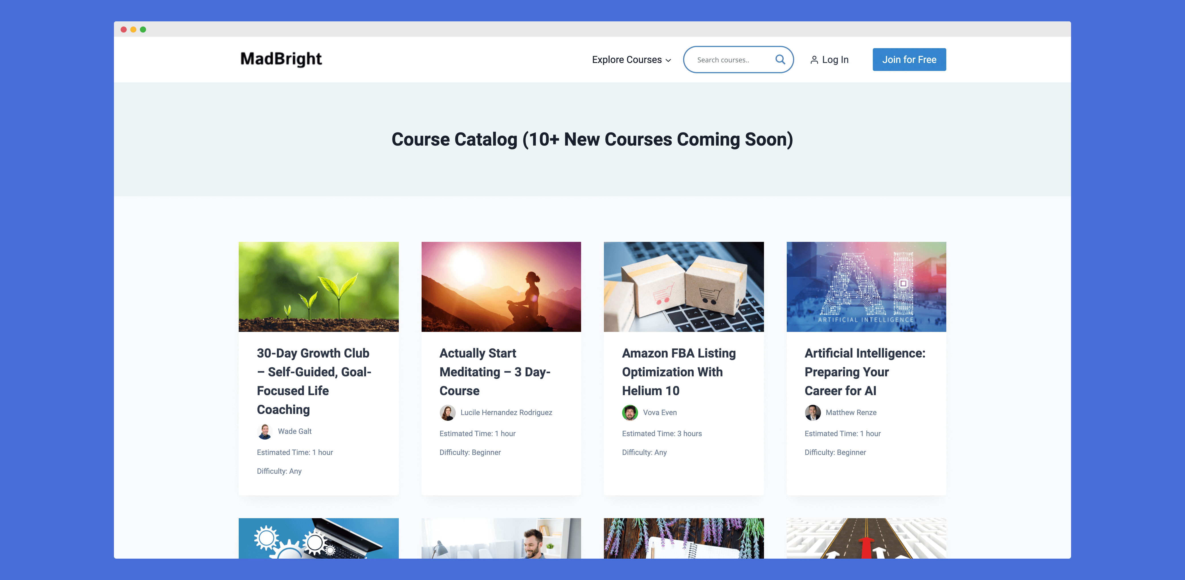Multi Instructor Course Platform