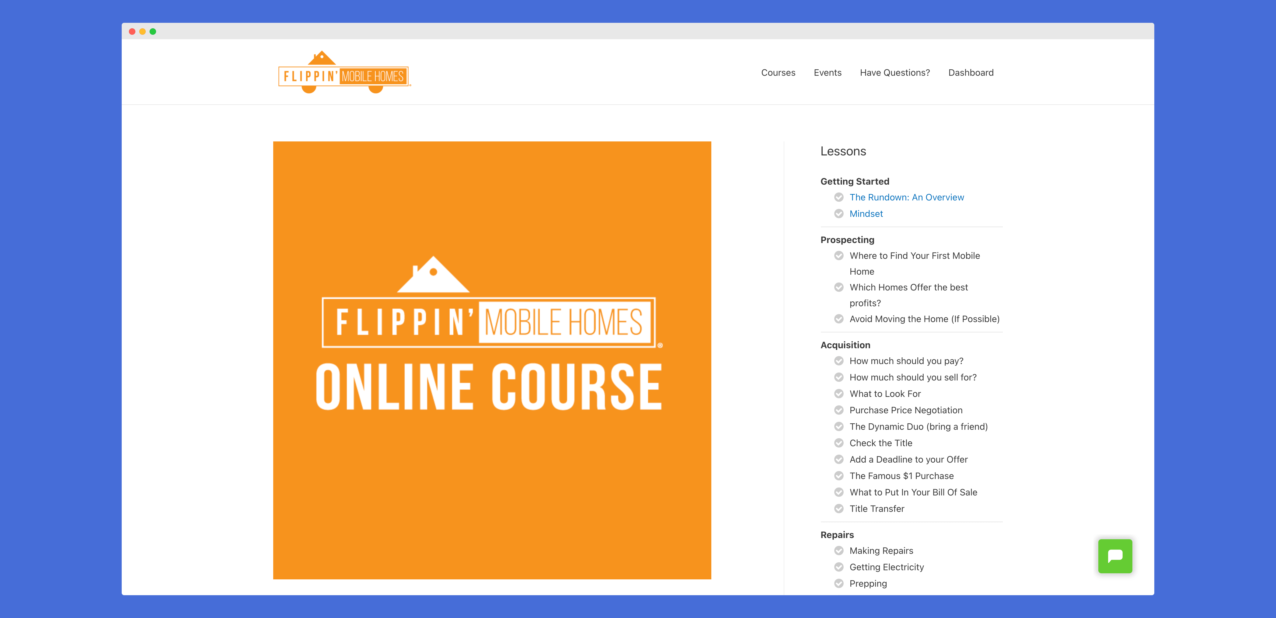 Flippin Mobile Homes Course